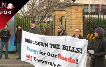 Protestors occupy British Gas offices