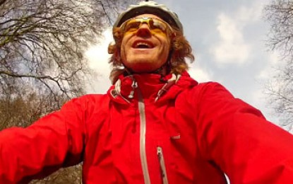Brave solar cyclist battles on after truck hit