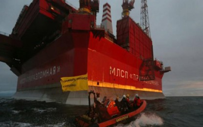 Greenpeace ends action at Gazprom Arctic rig