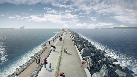 An artist's impression of the Swansea Bay project. Image: Tidal Lagoon Power