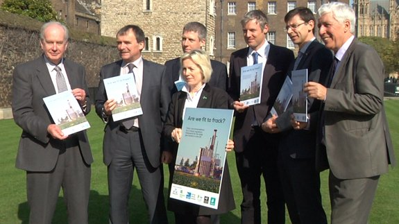 "MPs Tessa Munt, Zac Goldsmith and Alan Whitehead join charities to call for better ""fracking"" rules."