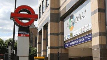 Hammersmith tube station.