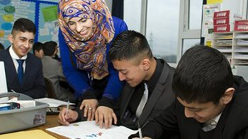 A Careers Lab session at Hodge Hill sports and enterprise college in Birmingham. Image: Charles Geater / National Grid