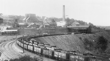 Colliery view from south. Copyright: Caerphilly County Borough Council