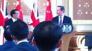 The Prime Minister and Premier Li in London, 16.06.14. Image: ELN