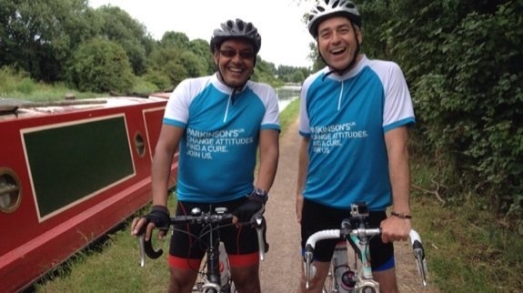 Sumit and Geoff on the towpath! #powerride