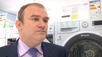 Energy Secretary Ed Davey visited a John Lewis store last year to see their new energy labelling scheme. Image: ELN