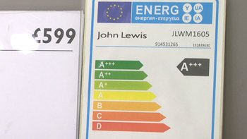 UK retailer John Lewis labels washing machines with clear energy use information in a scheme begun in 2013. Image: ELN