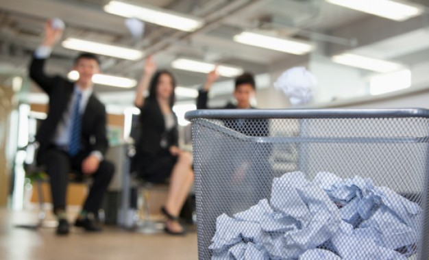 Ditching desk bins crushes office waste by 60%