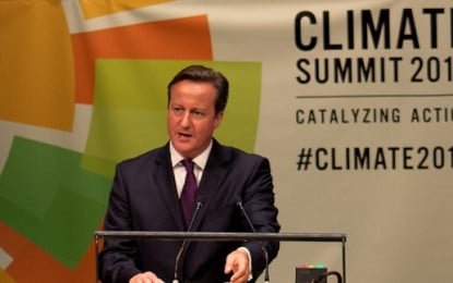 Shale gas part of David Cameron's climate solution