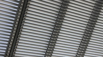Adjustable blinds at the gallery. Image: Open Technology UK
