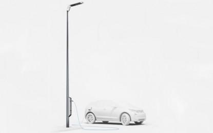 BMW's new street lights power up EVs