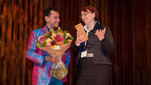 Tania Cosentino was surprised by our award
