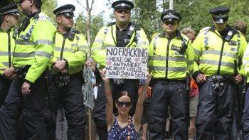 Protests erupted in Balcombe, Sussex over plans to frack, August 2013. Image: Thinkstock