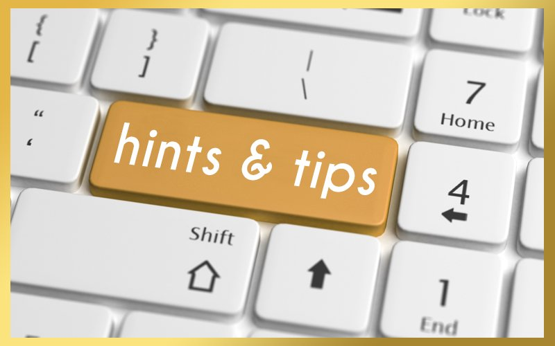 Hints & Tips 800x500