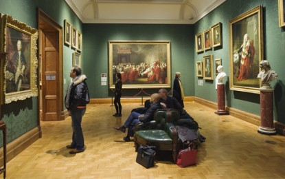 National Portrait Gallery gets the green light treatment