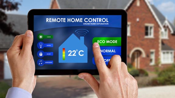 A generic smart home remote control.  Image: Thinkstock.