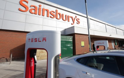 Supercharge your electric car at Sainsbury's
