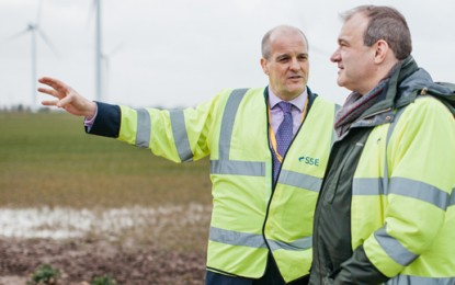 England opens its largest onshore wind farm