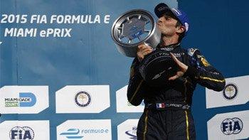 Nicolas Prost with his trophy. Image: FIA Formula E