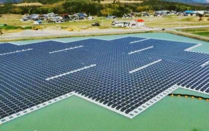 Floating solar farms open in Japan