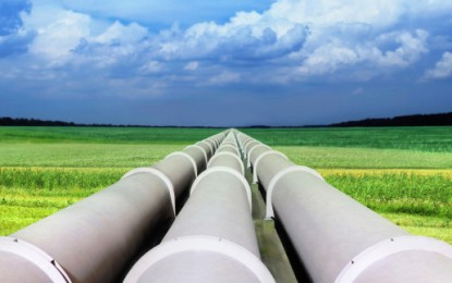 First UK green gas exported to Europe