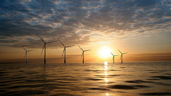 Kentish Flats offshore wind farm. Image: Vattenfall
