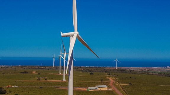 Mainstream's Jeffreys Wind Farm in South Africa opened last year. Image: Mainstream