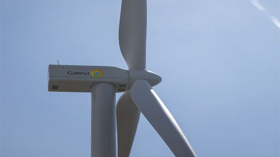 Prototype of Gamesa's G114-2.4MW turbine. Image: Gamesa