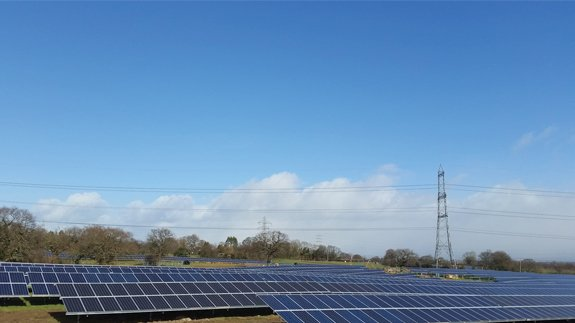 Solar farm in Legacy, Wales. Image: British Gas