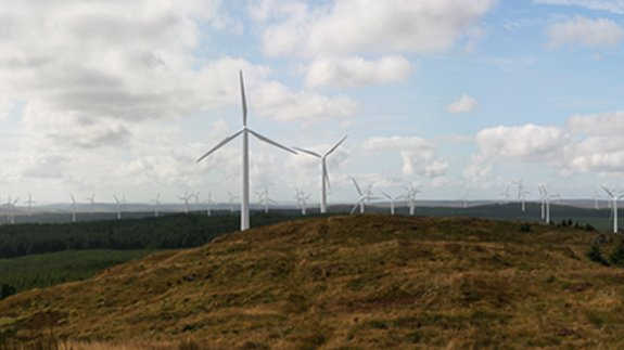 Photomontage of what the Kilgallioch Wind Farm will look. Image: ScottishPower