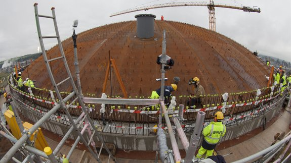 Roof of the shale gas storage tank at Grangemouth. Image: INEOS