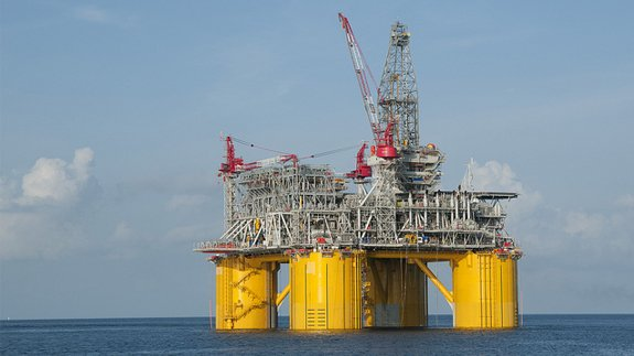 Shell's oil platform in the Gulf of Mexico. Image: Shell