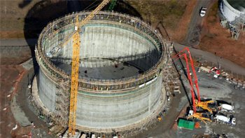 The shale gas storage tank. Image: INEOS