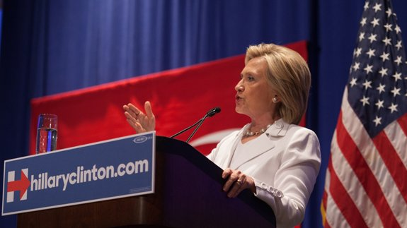 Hillary Clinton. Image: Thinkstock/ Mikeledford