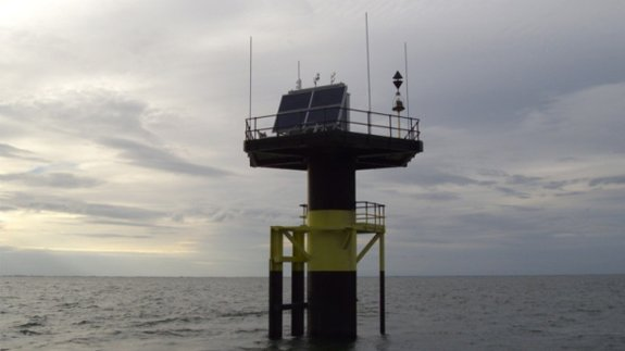 Tidal gauge at The Wash. Image: Environment Agency