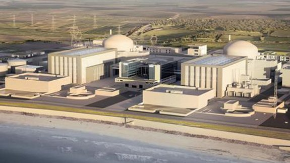 CGI view of Hinkley Point C power station. Image: EDF Energy