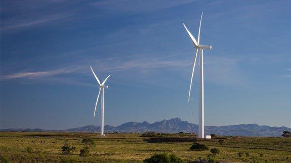 An African wind farm.  Image: Thinkstock