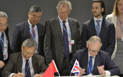 UK and China sign MoU to assess climate risk