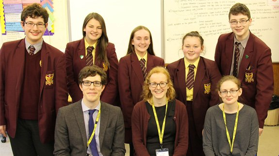 Maricourt pupils with nuclear graduates. Image: ONR