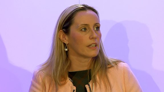 Gillian Noble of ScottishPower dealing with tough questions