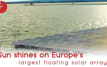 Sun shines on Europe's largest floating solar array
