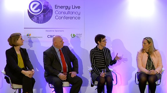 The panel at the Energy Live Consultancy Conference.