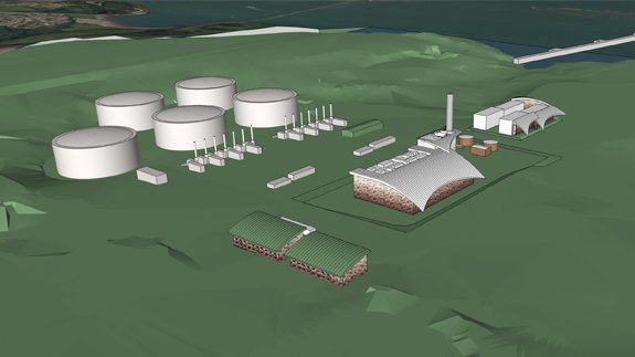 Artist's impression of South Hook CHP plant. Image: South Hook CHP