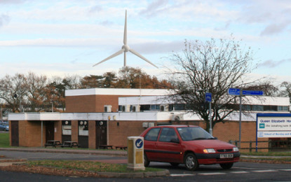 Windmill powers hospital in King's Lynn