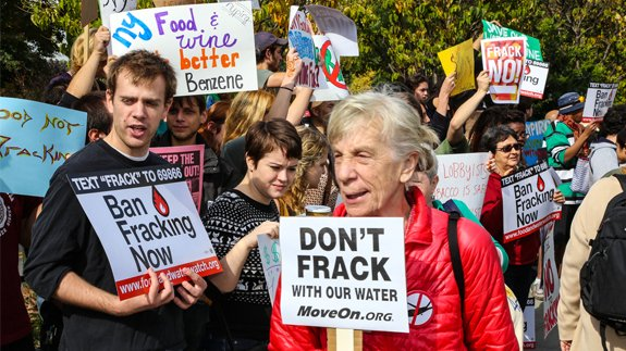 Anti-fracking protest in New York. Image: a katz/Shutterstock