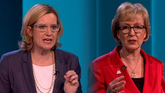 Amber v Andrea clash on EU. Image: itv