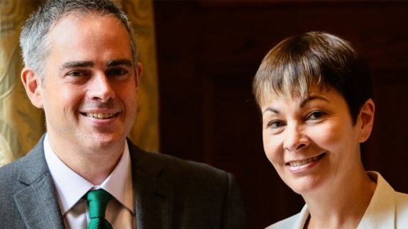 Jonathan Bartley and Caroline Lucas. Image: Green Party
