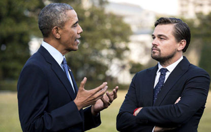 Obama and DiCaprio speak against climate change