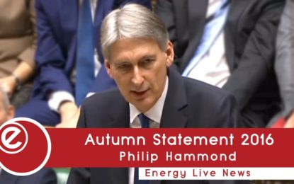 Autumn Statement: Carbon price support capped, boost for EVs, innovation, infrastructure